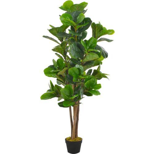 ZQYRLAR Künstliche Pflanze Geigen-Feige mit Topf Grün 152 cm