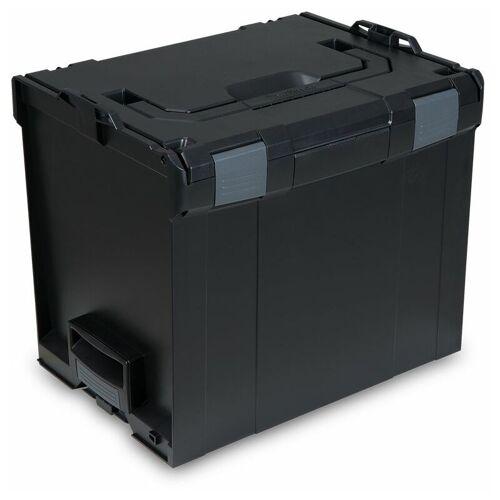 Bosch L-BOXX   Sortimo LB 374 SCHWARZ / Leer-Koffer   Innenmaße 378 x 294 x