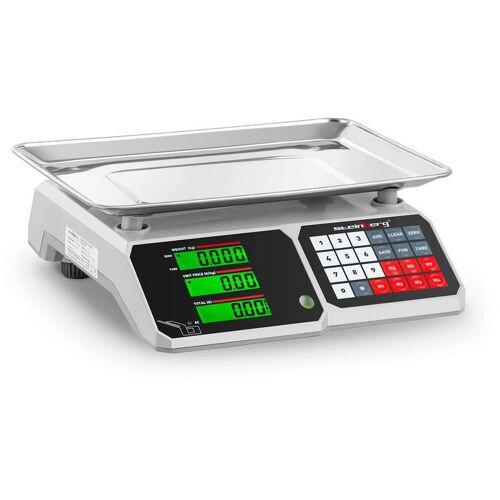 Steinberg Kontrollwaage LCD Profi Ladenwaage Preiswaage 30Kg 1G Marktwaage