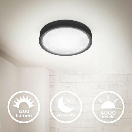 B.K.LICHT LED Deckenlampe Sternenhimmel 12W schwarz Deckenleuchte 4.000K