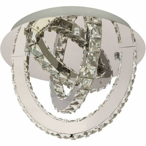 GLOBO LED Decken Lampe Leuchte Metall Chrom Kristalle Dimmbar Beleuchtung