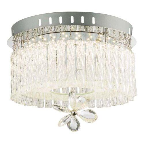 GLOBO LED Decken Chrom Leuchte Kristall Glas Behang Wohn Ess Zimmer