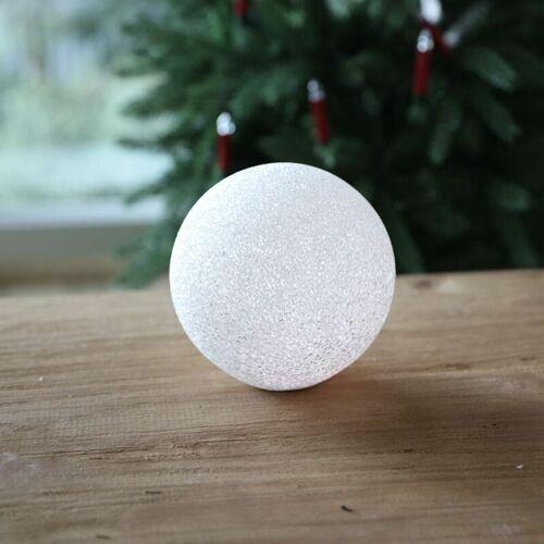 NEW HOME LED-Deko-Schneeball 15cm kaltweiß Lichtkugel Weihnachtsdeko Winterdeko