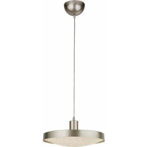 03-searchlight - LED-Suspension Untertasse - Silber mit Kristallsand