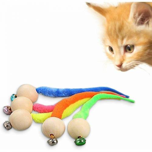 LITZEE Interaktives Fischen Katzenspielzeug, Katzenspielzeug,