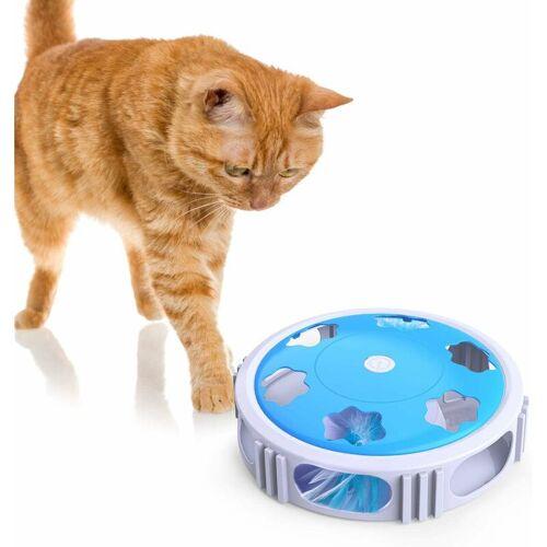 LITZEE Katzenspielzeug, Interaktives Katzenspielzeug aus dem Hinterhalt