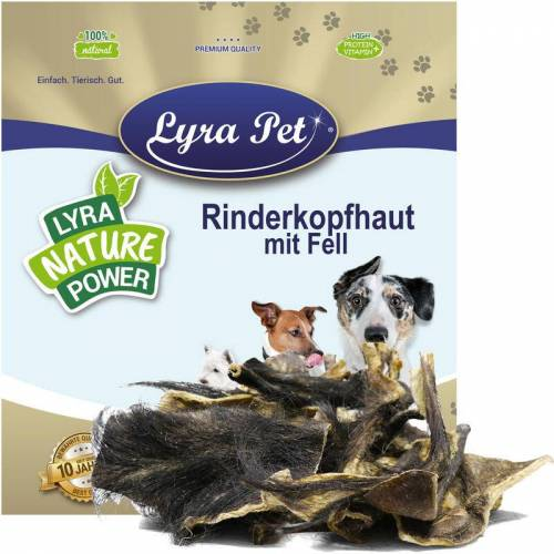 LYRA PET 1 kg ® Rinderkopfhaut mit Fell - Lyra Pet