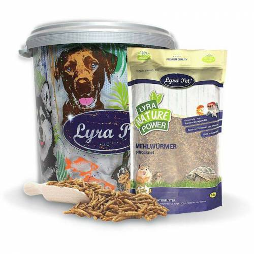 LYRA PET 5 kg Lyra Pet® Mehlwürmer in 30 L Tonne