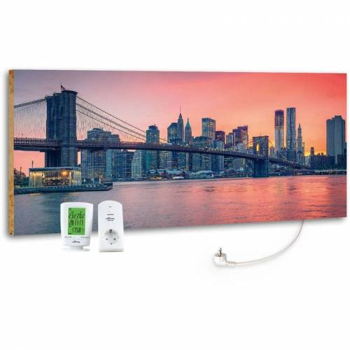 Marmony - M800 PLUS 800 Watt Infrarotheizung 'City Sunset' inkl. MTC-40
