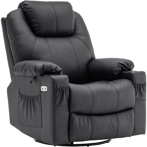 MCOMBO Elektrisch Relaxsessel Massagesessel 240° Dreh+ Schaukel + Vibration