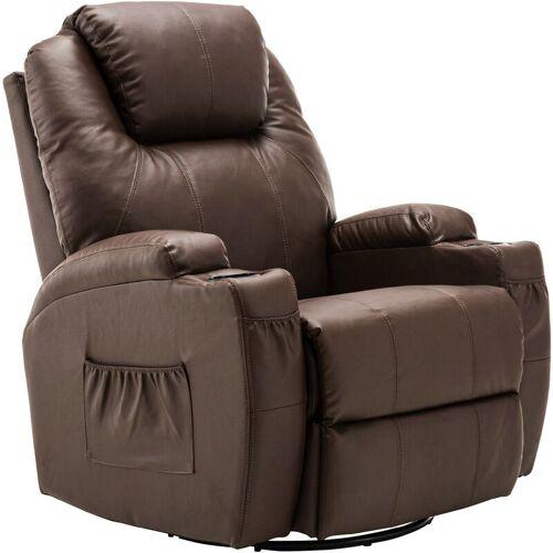 MCombo Massagesessel Fernsehsessel Relaxsessel + Heizung mit Dreh +