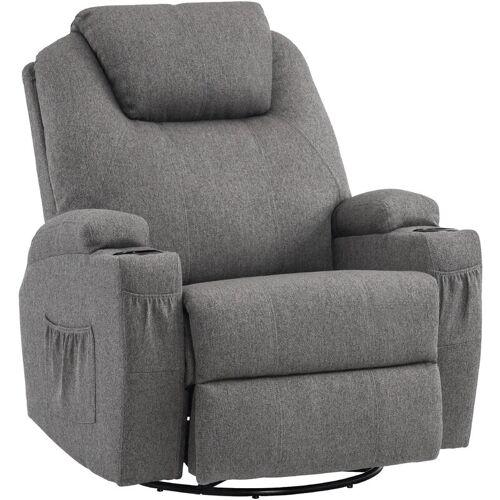 MCOMBO Massagesessel Fernsehsessel Relaxsessel + Heizung mit Dreh + Schaukel
