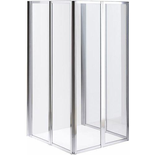 MELKO Duschwand Glas Badewannenaufsatz Badewannenfaltwand Faltwand
