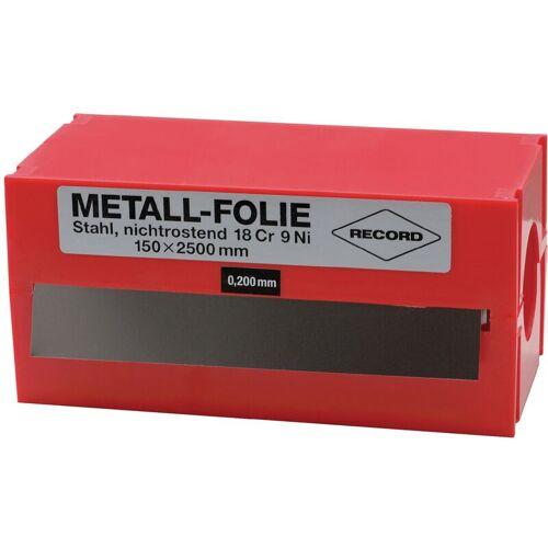Metallfolie Dicke 0,075mm VA L.2500mm B.150mm