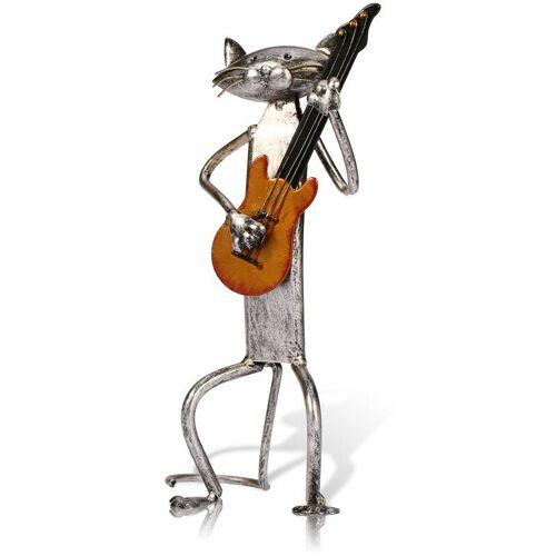 TOOARTS Metallskulptur Nach Hause Schmuck Die Katze Gitarre, Geschenke,
