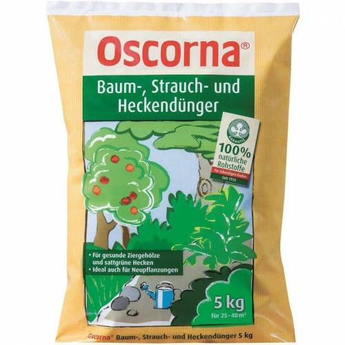 OSCORNA Baum-, Strauch-u. Heckendünger 5 kg - Oscorna