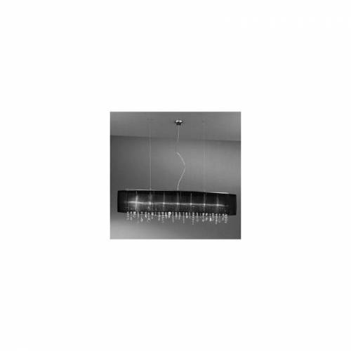 14-KOLARZ PARALUME Kristallaufhängung Chrom 7 Lampen, Höhe 50 cm