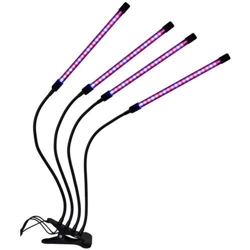 ASUPERMALL Vier-Rohren-LED-Pflanzenwachstumsclip Vollspektrum-Lichtspektrum