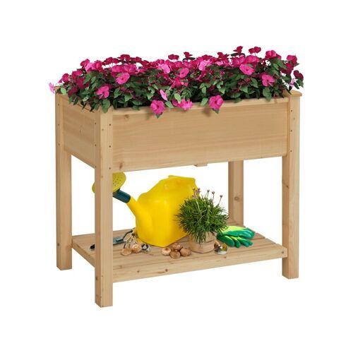 Yaheetech - Pflanztisch Garten Hochbeet Blumenbeet Pflanzkasten Blumen