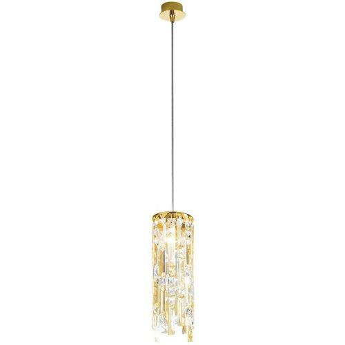 14-KOLARZ PRISMA Kristall Design Pendelleuchte 24K Gold 1 Lampe 25W