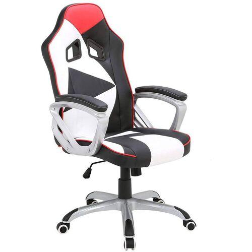 Woltu - Racing Stuhl mit Armlehnen & Wippmechanik aus Kunstleder Modell