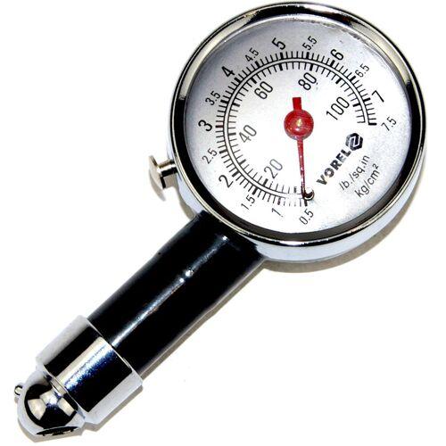 TOYA Reifendruckprüfer Luftdruckprüfer Metall 0,5 - 7,5 bar