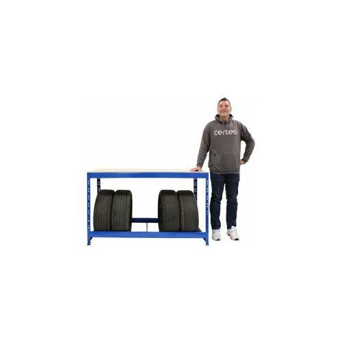 Certeo - Reifenregal   Für 7 Reifen   HxBxT 900 x 1400 x 600 mm
