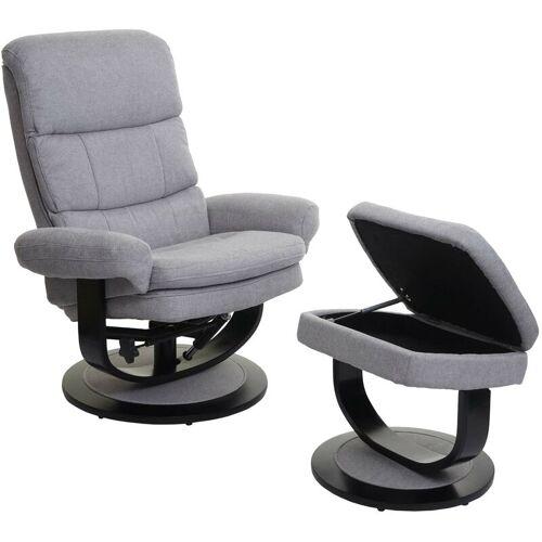 HHG Relaxsessel HHG-627, Fernsehsessel TV-Sessel Hocker mit Staufach ~