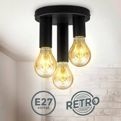 B.K.LICHT Retro Deckenspot Vintage Deckenlampe Schlafzimmer Flurleuchte Edison