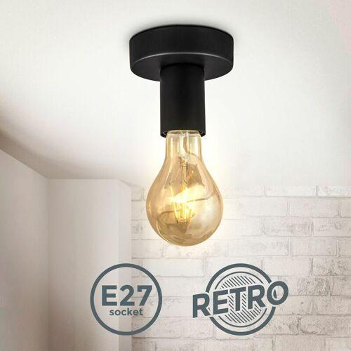 B.K.LICHT Retro Deckenspot Vintage Wandlampe Schlafzimmer Flurleuchte Edison E27