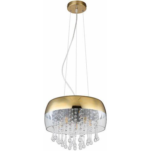 ETC-SHOP Decken Pendel Lampe dimmbar Glas Kristall Hänge Leuchte Fernbedienung