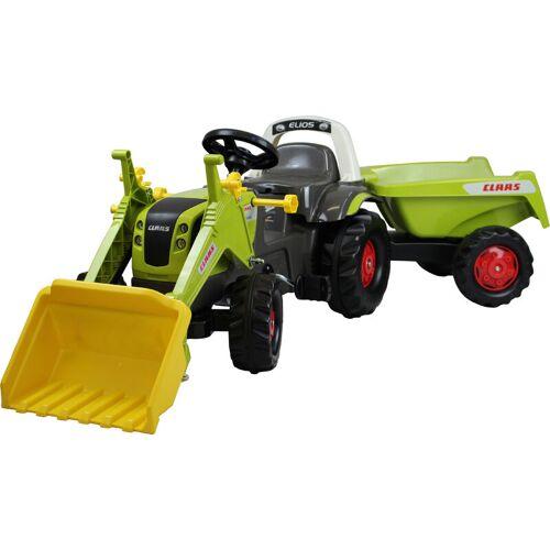 ROLLY TOYS RollyToys Trettraktor Claas Xerion mit rollyMinitrac Anhänger Traktor