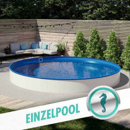 POOL TOTAL Rundbecken Ø 5,00 m, 1,50 m, Folie blau 0,8 mm - POOL TOTAL