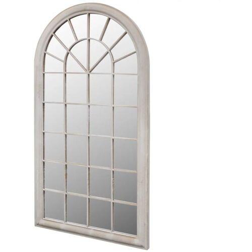 Hommoo - Rustikaler Gartenspiegel Bogen 116 x 60 cm für Innen- und