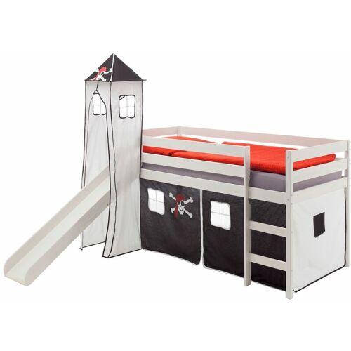 Idimex - Rutschbett BENNY mit Turm+Vorhang Pirat