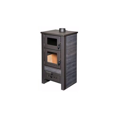 ACERTO® Santo Holzofen 8kW Kaminofen anthrazit Gusskaminofen aus Stahl für Holz