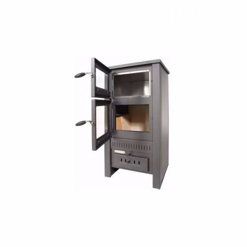 ACERTO® Santo Holzofen 8kW Kaminofen Gusskaminofen aus Stahl für Holz und Kohle
