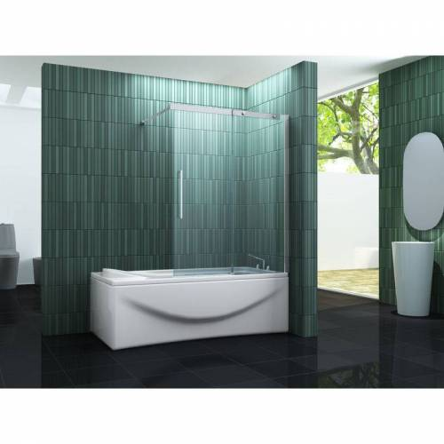 IMPEX-BAD_DE Schiebetür-Duschtrennwand BATCH 140 x 150 (Badewanne)