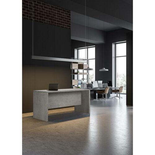 DMORA Schreibtisch Farbe Betongrau
