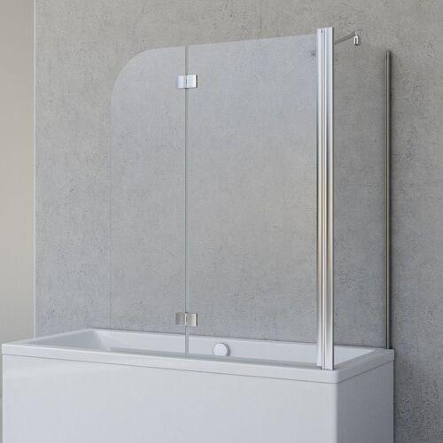 SCHULTE Duschabtrennung für Badewanne Angle, 2-teilig mit Seitenwand,