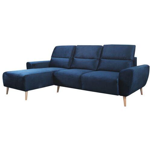 Selsey BRIALLEN - Sofa in L-Form / Ecksofa mit Samtbezug,