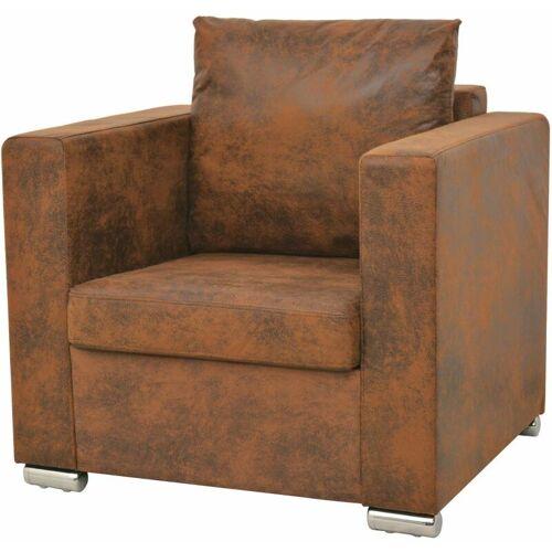 Asupermall - Sessel 82 x 73 x 82 cm Kunstliches Wildleder