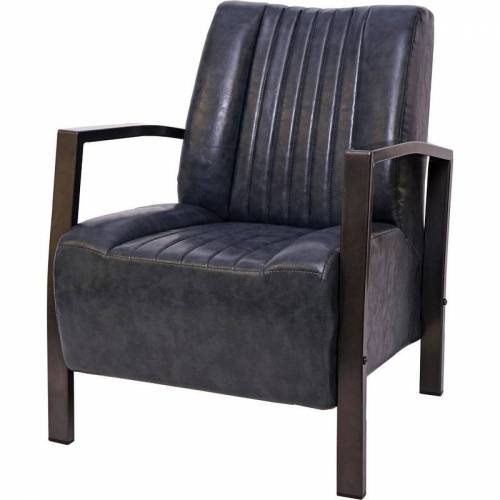 HHG Sessel HHG-477, Loungesessel Polstersessel Relaxsessel, Metall