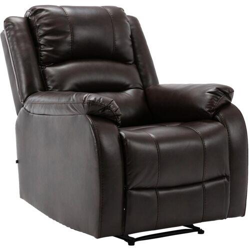 CLP - Sessel Kerpen-braun-Kunstleder