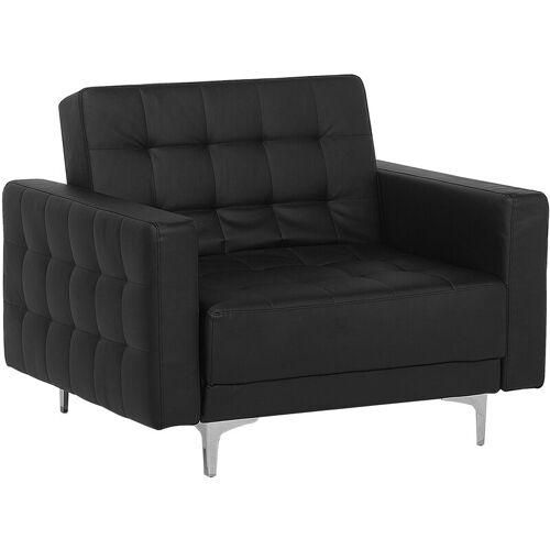 BELIANI Moderner Sessel Kunstleder schwarz Aberdeen II - BELIANI