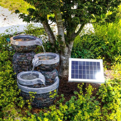 ESOTEC Solar Gartenbrunnen Springbrunnen Wasserspiel Garten Solarbrunnen