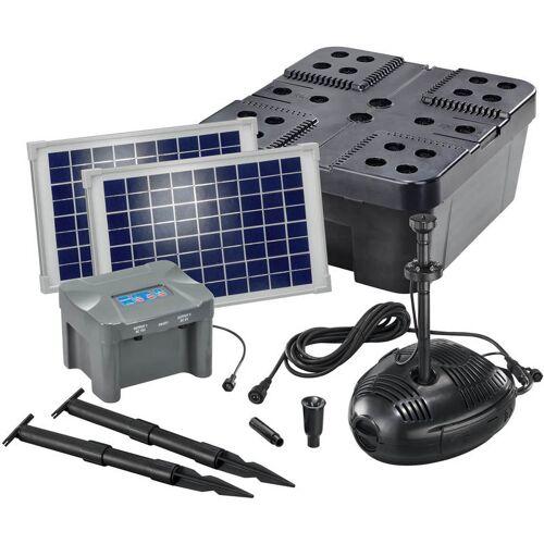 ESOTEC Solar Teichfilter Set 20/630 + Akku Solarpumpe Filter Gartenteich