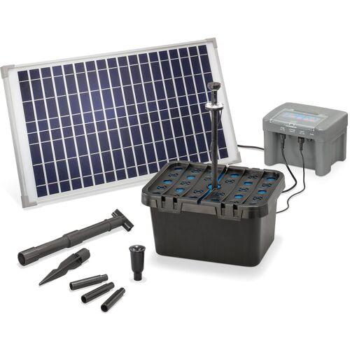 ESOTEC Solar Teichfilter Set 25/650 + Akku LED Solarpumpe Filter Gartenteich