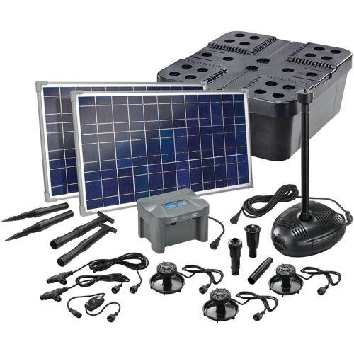 ESOTEC Solar Teichfilter Set 50/1700 + Akku Solarpumpe Filter Gartenteich