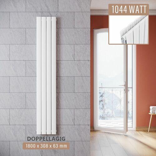 SONNI Design Paneelheizkörper Weiß Flachheizkörper Vertikal Doppellagig